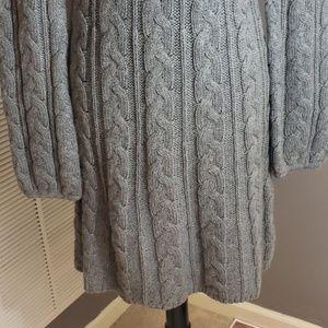 Moda International Dresses - Moda international grey sweater dress wide neck